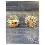 MILLEFIORI  AND MURANO ART GLASS PAPERWEIGHTS