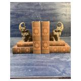 ELEPHANT AND BOOKS BOOKENDS SET