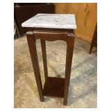 MARBLE TOP MAHOGANY FERN STAND