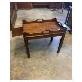 MAHOGANY TEA TABLE WITH PULLOUT SLIDES