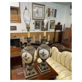 PAIR OF MID CENTURY ORNATE LAMPS