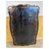 DECORATOR BLACK AND GOLD TABLE TOP