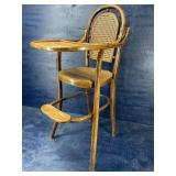BENTWOOD CANED HIGH CHAIR