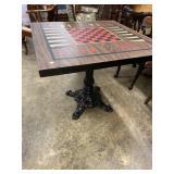 ORNATE IRON BASE GAME TABLE