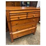 19TH CENTURY PINE 2 OVER 3 DRAWER CHEST