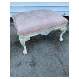 PAIN DECORATED CHIPPENDALE OVERSIZED STOOL