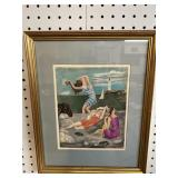 """PICASSO PRINT """"The Bathers"""""""