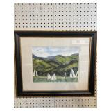 SAILBOAT WATERCOLOR PRINT BY KATHRYN QUIGLEY