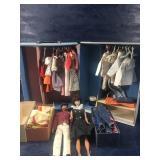 VINTAGE BARBIE & KEN DOLL WITH CASE CLOTHES