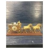 VINTAGE UNITED CLOCK COMPANY HORSE & CARRIAGE