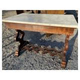 ROSEWOOD VICTORIAN STRETCHER BASE MARBLE TOP
