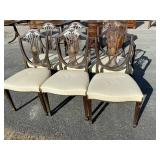 SET OF 6  EARLY INLAID  SHEILD BACK CHAIRS
