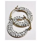 10k Yellow Gold Cubic Zirconia (0.68 g) Earrings,