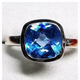 Silver Aquamarine Ring, MSRP $80