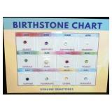 Genuine Gemstone - Birthstone Chart, MSRP $300