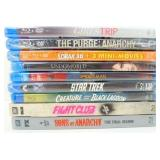 9 New/Sealed Blu-Ray Movies