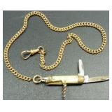 Vintage Simmons A&Z Curb-Link Pocket Watch Chain