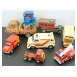 * Vintage Toy Truck & Cars - Tonka, Tin Friction,