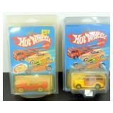 2 Vintage NIP Hot Wheels with Protectors -
