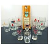 ** Lot of Mixed Beer Glasses