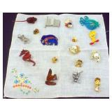 Variety of Character and Animal Pins
