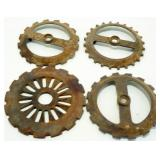 4 Steel Seed Planter Wheels