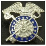 Sterling WW2 Quartermaster Pin