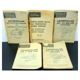 Five Caterpillar Operation Manuals - Used, 1962