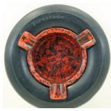 Firestone Tire Ashtray - Bakelite Insert, Nice