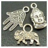 Hamsa, Elephant, Buddha Charms