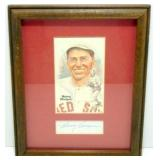 Framed Harry Hooper/Perez Card with Autograph -
