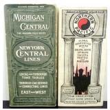(2) 1905 Railroad Timetable/Map Brochures