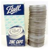 12 Ball Jar Zinc Lids - Unused in Original Box