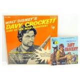 Vintage Davy Crockett 33 1/3 Record Book and LP