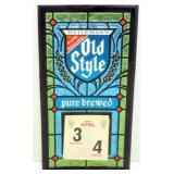 Rare 1971 Old Style Pure Brewed Day Calendar -