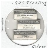 3 pc. Set of .925 Sterling Silver Classic Car