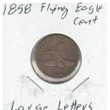 1858 Flying Eagle Cent - Large Letters