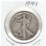 1919-S Walking Liberty Silver Half Dollar