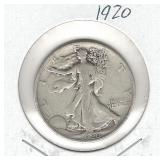 1920 Walking Liberty Silver Half Dollar