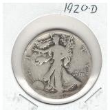 1920-D Walking Liberty Silver Half Dollar