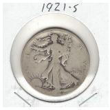 1921-S Walking Liberty Silver Half Dollar