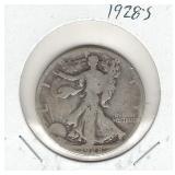 1928-S Walking Liberty Silver Half Dollar