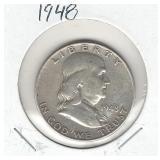 1948 Franklin Silver Half Dollar