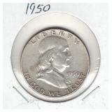 1950 Franklin Silver Half Dollar