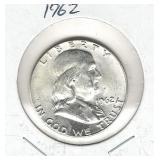 1962 Franklin Silver Half Dollar