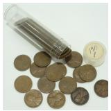 Solid Date Roll 1911 Lincoln Cents