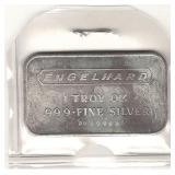 Engelhard 1 troy oz .999 Fine Silver Bar