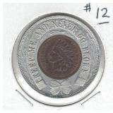 Encased 1909 Uncirculated Indian Head Cent -