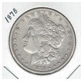 1878 Morgan Silver Dollar - 7TF, Reverse of 1878