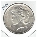 1924 Peace Silver Dollar